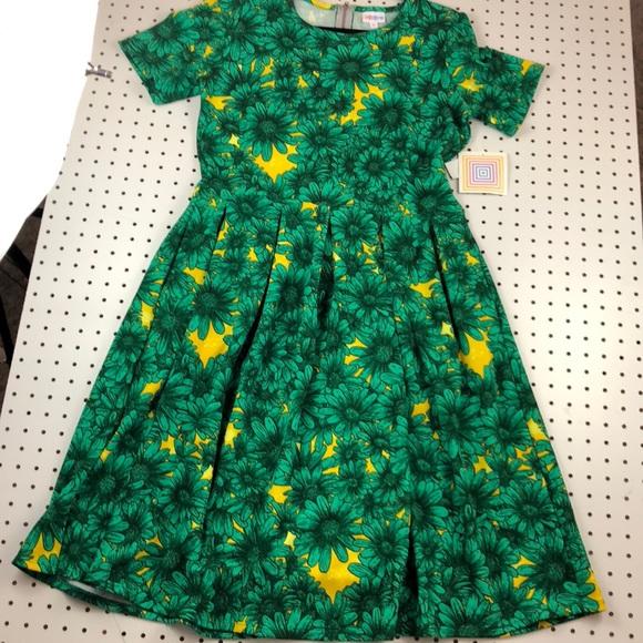 98118090a LuLaRoe Dresses | Nwt Green Daisy Amelia Xl | Poshmark